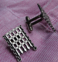 Portcullis Pewter Cuff Links
